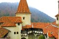Dracula castle tourist visiting bran in transylvania romania Royalty Free Stock Photo