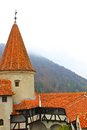 Dracula castle tourist visiting bran in transylvania romania Stock Photos