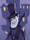 Dracula halloween illustration eith on the background of castle Royalty Free Stock Photography
