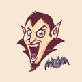 Dracula Head Vector Royalty Free Stock Photo