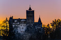 Dracula's Bran Castle in Transylvania Stock Photo