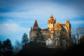 Dracula s castle the of in bran romania transylvania at sunset Stock Image