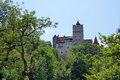 Dracula's castle on the horizon Stock Photo