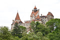 Dracula s castle from transylvania front view of bran vlad tepes medieval romania Royalty Free Stock Photo