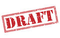 Draft red stamp Royalty Free Stock Photo