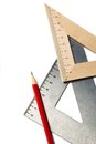Drafting tools Royalty Free Stock Photo