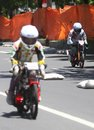Drag bike the racing fans in the city of solo central java indonesia Stock Photos