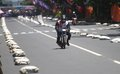 Drag bike the racing fans in the city of solo central java indonesia Royalty Free Stock Photo