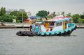 Drag boat cruising in chao phraya river bangkok thailand Royalty Free Stock Photo