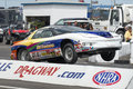 Drag car wheelie napierville dragway july picture of making during nhra national open event Stock Images