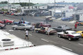 Drag cars competitors napierville dragway july picture of two row of car during nhra national open event Stock Images