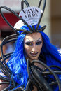 Drag queen at christopher street day stuttgart germany july th alien vava vilde participates in the csd parade in stuttgart in Stock Images