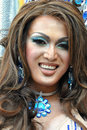 Drag queen portrait asian in edmonton s pride parade Royalty Free Stock Image