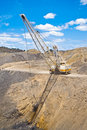 Dragline in coal mine Royalty Free Stock Image