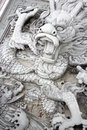 Dragon Bas-relief at Chinese Temple Stock Images