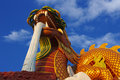 Dragon big statue in thailand looks reverence Royalty Free Stock Photos
