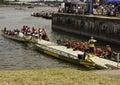 Dragon boat competitors