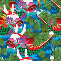 Dragon Boat Festival ink seamless pattern Royalty Free Stock Photo