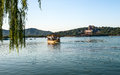 A dragon boat in kunming lake summer palace beijing Stock Image