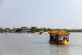 Dragon boat on lake Kunming at summer palace, Beijing Royalty Free Stock Photo