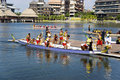 Dragon Boat Race Action Stock Photo