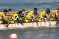 Dragon Boat Race Action (Blurred) Royalty Free Stock Photography
