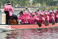 Dragon Boat Race Ladies Team Stock Photo