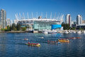 Dragon boat race vancouver canada – may rowers take part in at false creek in vancouver on may boating today is the Royalty Free Stock Photo
