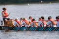 Dragon Boat racers Royalty Free Stock Image