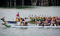 Dragon Boat Races at Victoria, British Columbia Stock Images