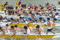 Dragon Boat Racing, Singapore Stock Image