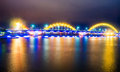 Dragon Bridge in Danang City Royalty Free Stock Photo