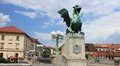 Dragon bridge secession monument ljubljana zmajski most artistic and technical in style of vienna by jurij zaninovic Stock Images