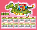 Dragon Calendar New Year Fly Child Present Royalty Free Stock Photos