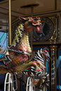 Dragon carousel ride - closeup Royalty Free Stock Photo