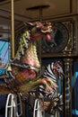 Dragon carousel ride - closeup Royalty Free Stock Photo