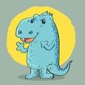 Dragon cartoon design Royalty Free Stock Photo