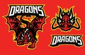 Dragon character in sport mascot style