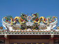 Dragon Chinese style roof decoration Stock Photo