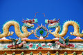 Dragon Chinese Temple Roof Royalty Free Stock Photos