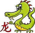 Dragon chinese zodiac horoscope sign cartoon illustration of Royalty Free Stock Photo