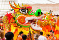 Dragon dancing during Chinese New Year Stock Image