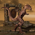 Dragon on Dragon Nest Royalty Free Stock Images