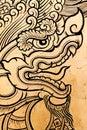 Dragon engraving Royalty Free Stock Photo