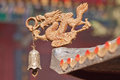 Dragon figure with bell as decoration of Taoist temple, Beijing, China Royalty Free Stock Photo