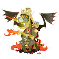 Dragon in a fire that puts out . Royalty Free Stock Photo