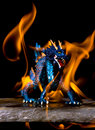 Dragon flame Royalty Free Stock Image