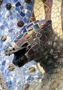 Dragon fountain barcelona in park guell in Stock Photos