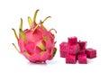 Dragon fruit isolated on white background fresh Stock Images