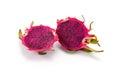 Dragon fruit isolated on white background pitaya fruit Stock Photos